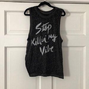 Tokyo DARLING Stop Killin' My Vibe Graphic Tank XS